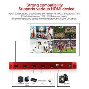 Image 5 - ميرابوكس 4X1 HDMI متعدد المشاهد HDMI شاشة رباعية الوقت الحقيقي متعدد المشاهد مع HDMI سلس الجلاد 1080p HD IR HDMI التبديل