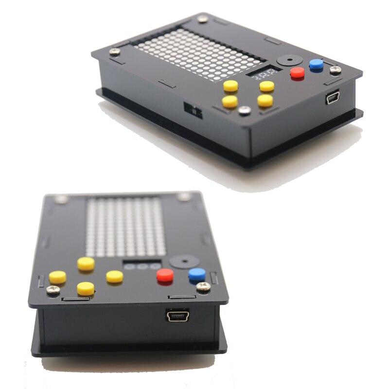 Electronic DIY Kit 8x16 Dot matrix game machine for Tetris/Snake/Shot/RacingDot Matrix Game with Acrylic Diy Kit Electronic