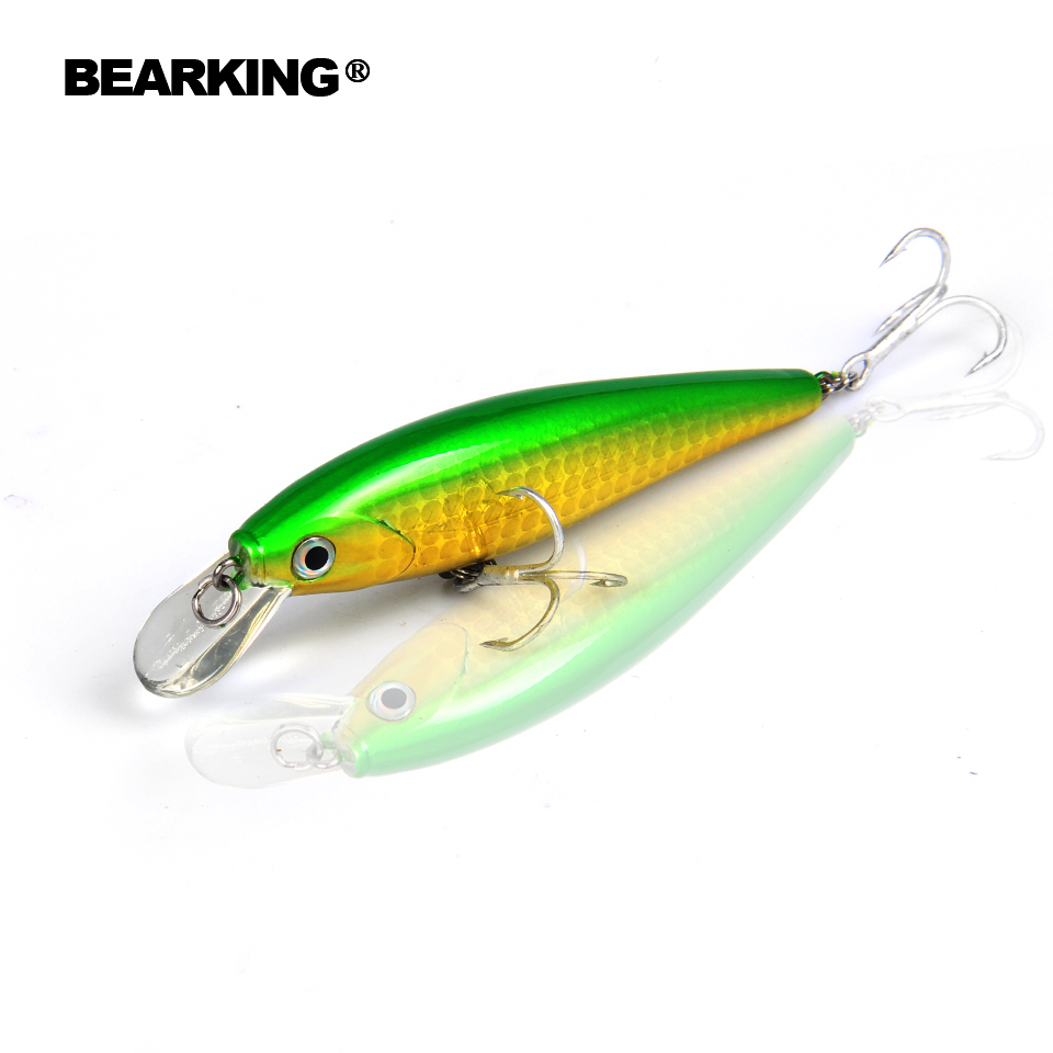 2017 bearking fishing lure ,new model,perfect action minnow 65mm/5g, 5pcs/lot.  dive 0.8-1.2m,free shipping