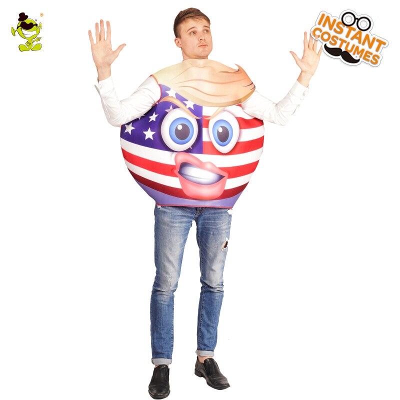 Adult Unisex Emoji Flag Role Play Funny Emoticon Performance Carnival Party Emoji Flag Jumpsuit