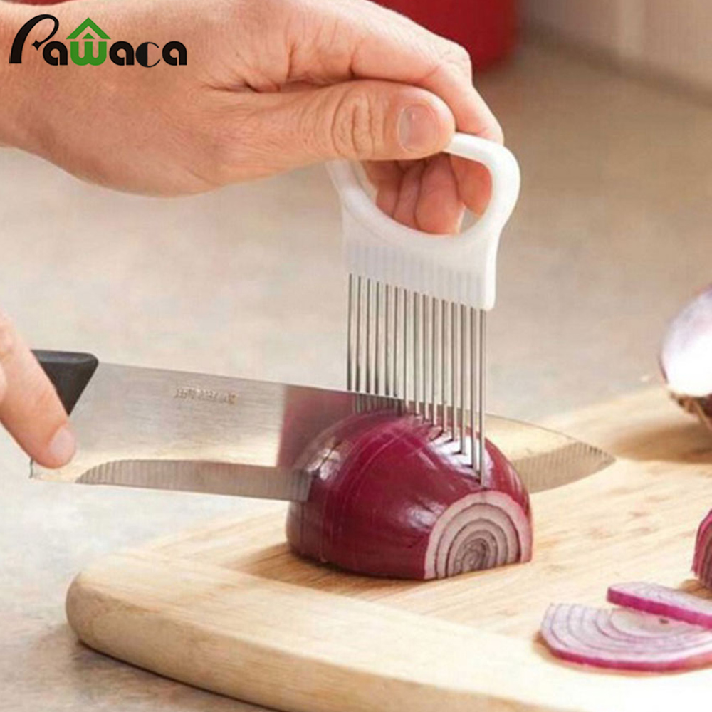Onion Slicer Convenient Kitchen Tool Onion Tomato Cutter Cutting Fruit Vegetable Slicers Cutter Slicing Help Guide Fixed Gadget