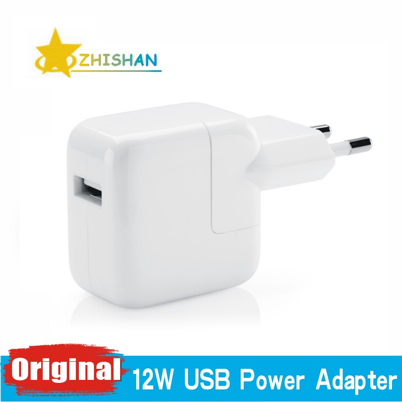 2.4A Fast Charging Original Euro iPad Charger Genuine 12W USB Power Adapter for iPad Pro Mini Air iPhone X 5s 6s 7 8 Plus for EU