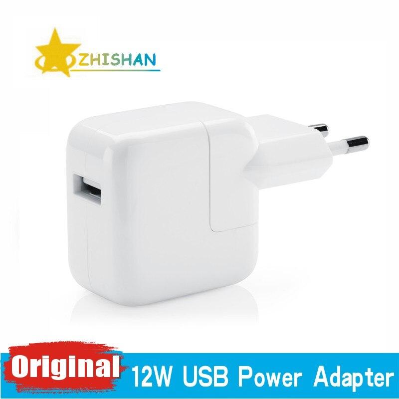 43c899bacd7 2.4A rápido de carga Original Euro iPad cargador de adaptador de corriente  USB de 12 W de iPad para iPad Pro de aire Mini iPhone X 5S 6 6 s 7 8 Plus  para la ...