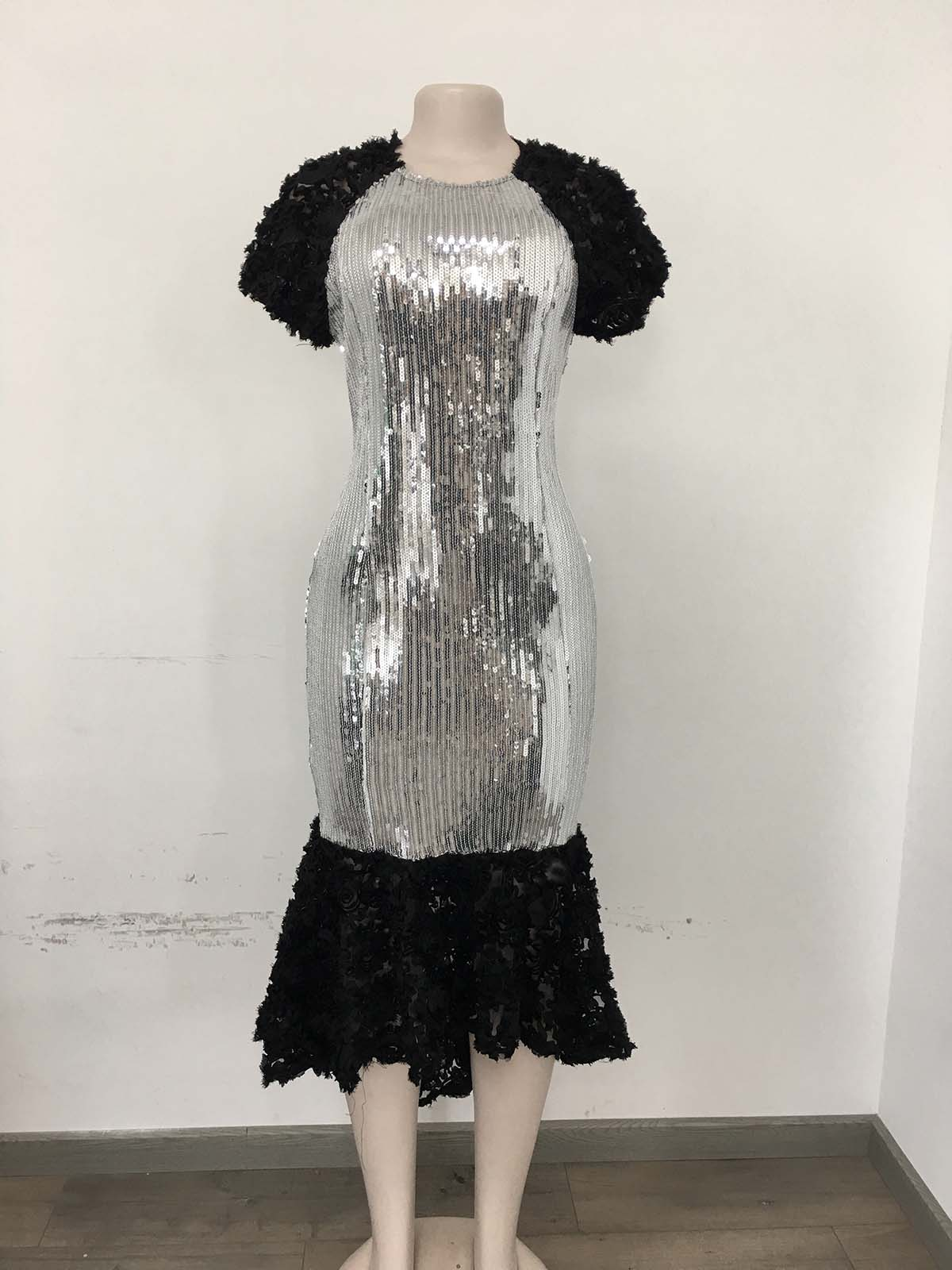 African Dresses For Women 2019 Sequined Africa Clothing Muslim Long Dress High Quality Length Fashion African Dress For Lady