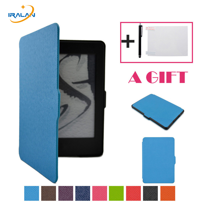 Magnetic Auto Sleep PU Leather Cover Case For amazon new kindle 7 7th Generation 2014 6 inch +Free Gifts+screen film+stylus pen
