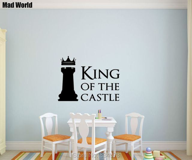 mad world king of the castle chess piece wall art stickers wall decal home diy
