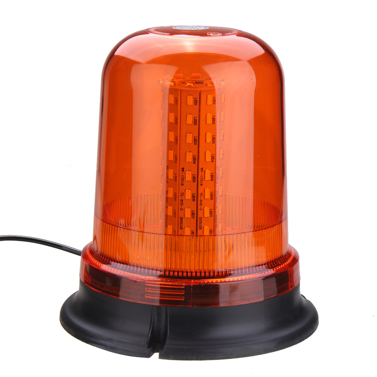NEW Safurance 80 LED Magnetic Mount Rotating Flashing Amber Dome Beacon Recovery Warning Light Roadway Safety 10 led led beacon magnetic bolt recovery flashing warning strobe light lightbar amber