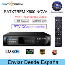 SATXTREM X800 NOVA Cccam spain IPTV combo decoder +1 Year 8 lines europe ccam server receptor H.265 DVB-S2 satllite tv receiver(China)