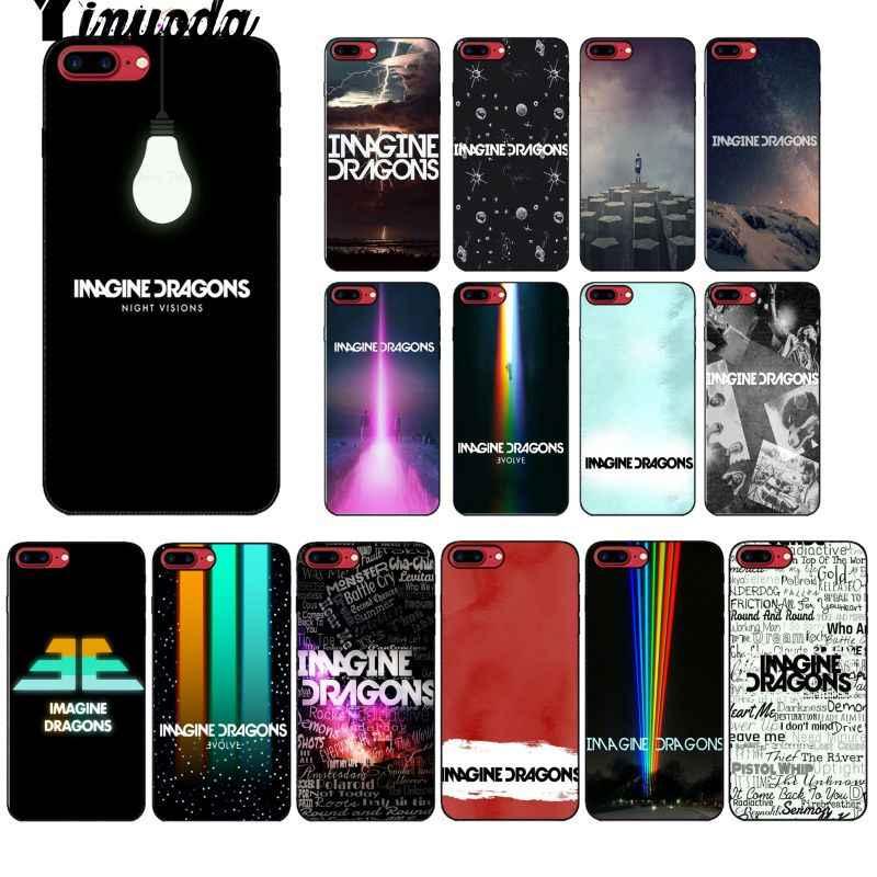 Yinuoda noche música imagine dragones música piel teléfono funda carcasa para Apple iPhone 8 7 6 6S Plus X XS X MAX 5 5S SE XR cubierta