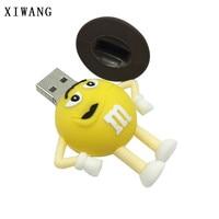 flash drive Cartoon Cap M Chocolate Beans USB Flash Drive 128gb usb 2.0 4GB 8GB pendrive 16GB 32GB 64GB USB Memory Stick Pen Drive Free Ship (5)