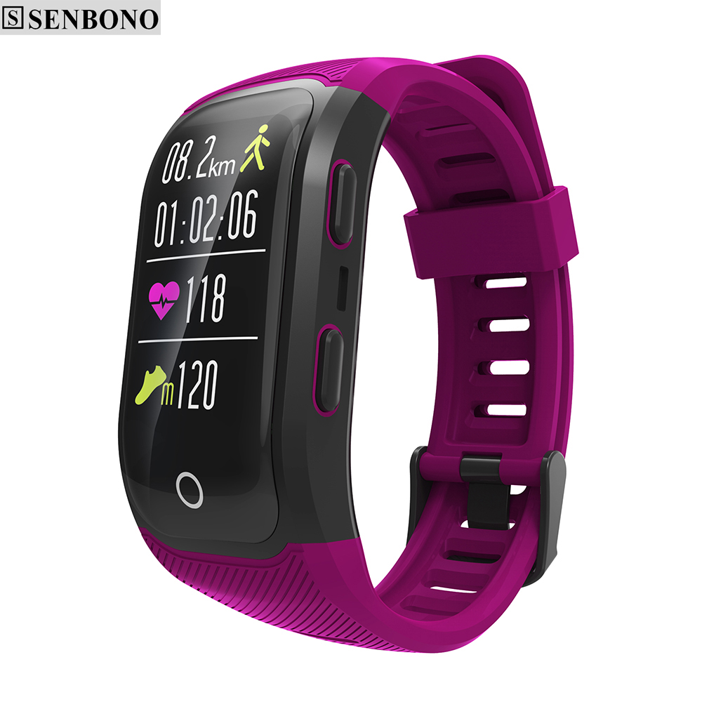 SENBONO IP68 Waterproof Bluetooth GPS Wrist smart band Heart Rate Monitor Altitude Meter Activity Fitness Tracker
