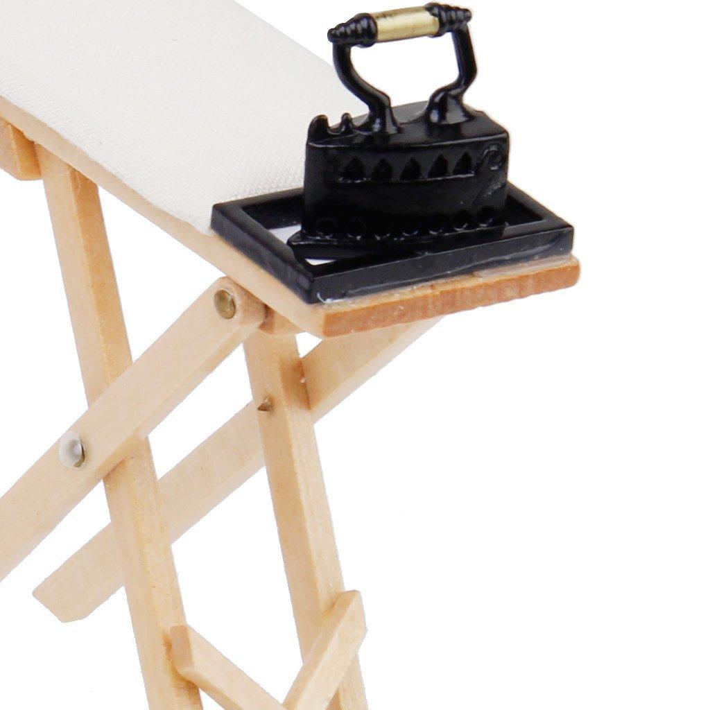 Möbel Spielzeug 12 Puppenhaus Miniatur Eisen Mit Bügelbrett Set Enthalten Netten Skala 1