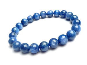 8mm Genuine Blue Kyanite Gemstone Crystal Round Bead Stretch Bracelets For Women Female