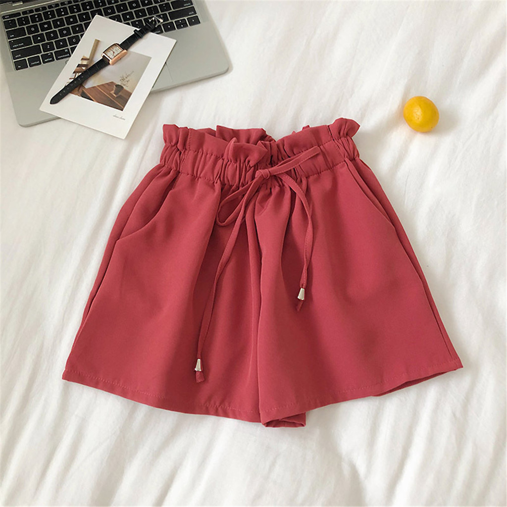 2019 Women New Style Fashion Hot Fashion Women Lady Sexy Summer Casual   Shorts   High Waist   Short   Beach Bow   Shorts   Z0509
