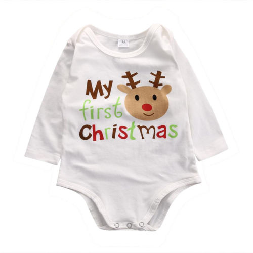 Kids Baby Boys Girls Infant Deer   Romper   Jumpsuit Cotton Clothes Outfits Unisex Christmas baby   rompers   children jumpsuits 2016