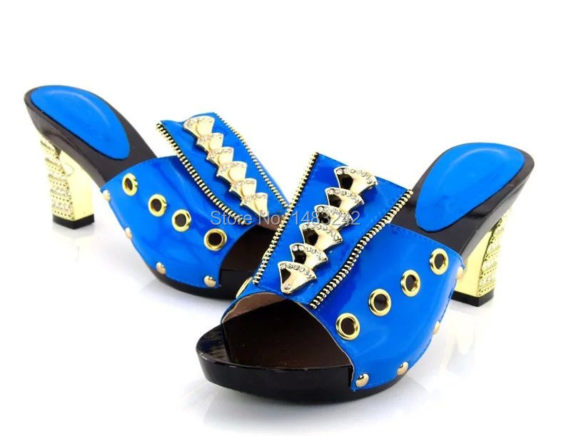 ФОТО TR-2-BLUE African wooden shoes quality, genuine leather material SIZE37-43