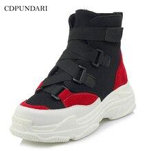 CDPUNDARI/ г.; зимняя обувь; кроссовки; женские ботильоны; женские ботинки на платформе