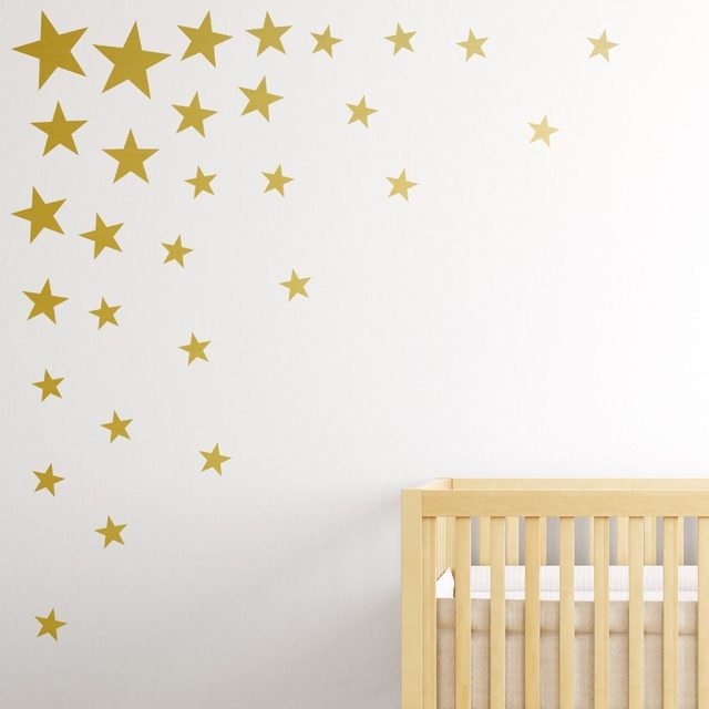 Online Shop Multisize 73 pcs/set Gold Star Wall Sticker DIYHome ...
