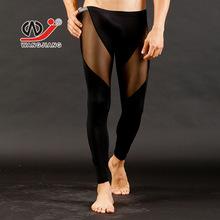 Free shipping WJ Men s long johns Net sexy transparent gauze underwear Ultra thin tights Leggings