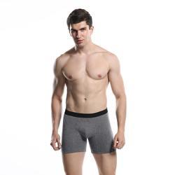 Мужские трусы-боксеры дышащее хлопковое нижнее белье молодой Для мужчин длинные боксер сплошной эластичные шорты комфорт сплошной боксер