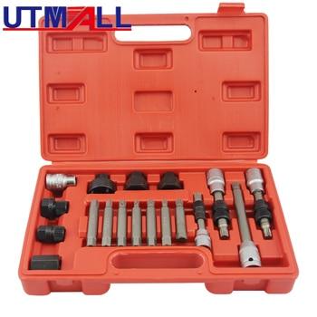 18pcs Alternator Repair Tool of Alternator Freewheel Pulley Puller Removal Socket Tool Kit 1000w 200rpm low rpm vertical wind pmg alternator permanent magnet ac alternator