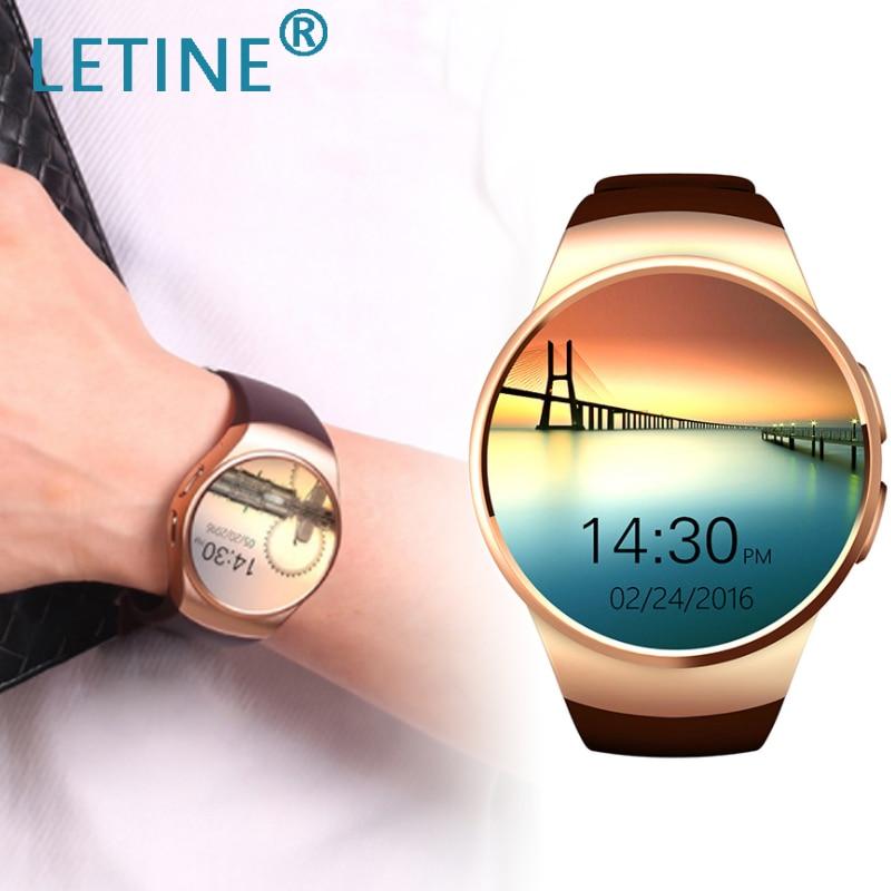 Letine Kingwear KW18 montre-bracelet électronique téléphone Bluetooth montre intelligente hommes femmes Sport Smartwatch pour iOS Android PK KW88 K88h