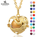 Eudora Harmony Ball Gold Plated Mermaid Locket cage Pendant Pregnant Women Angel Caller Wishing Chime ball Necklace Jewelry