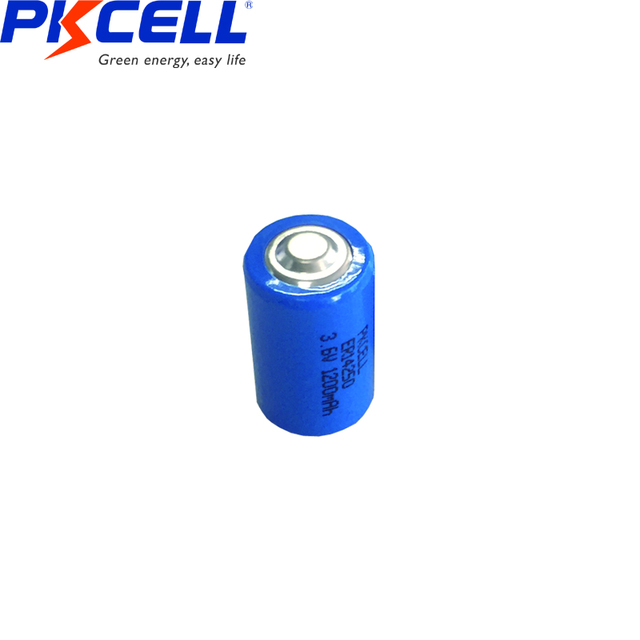10PCS PKCELL 1/2 AA er 14250 battery 3.6v 1200MAH lithium batteries replace for LS14250 LS 14250 primary battery for camera  5
