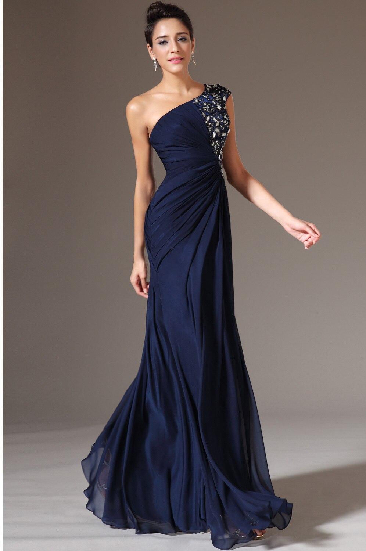 Vestido color azul de noche