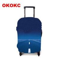 OKOKC дорожный узор толстый дорожный защитный чехол на чемодан нанесите на 19 ''-32'' чемодан Эластичные аксессуары для путешествий