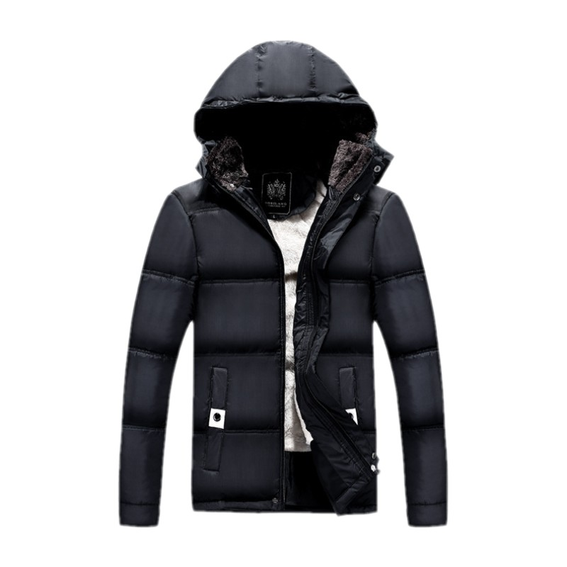 The new winter 2016 men cotton-padded jacket coat Collar Europe and cultivate one's morality with thick cotton-padded clothes