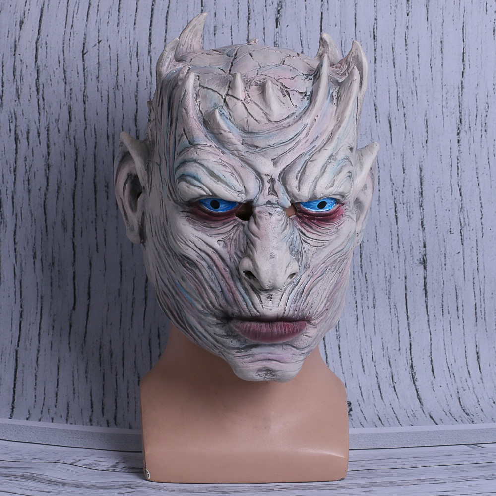 Night's King Mask Game of Thrones Latex Mask For Adult Men Walker Face Masquerade Halloween Cosplay Party Free Shipping
