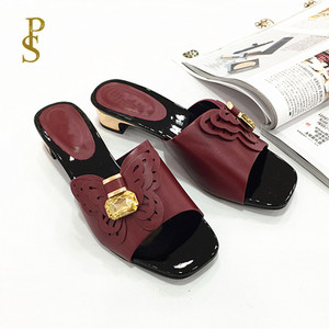 Image 5 - African style shoes for women mama slippers Low heel shoes