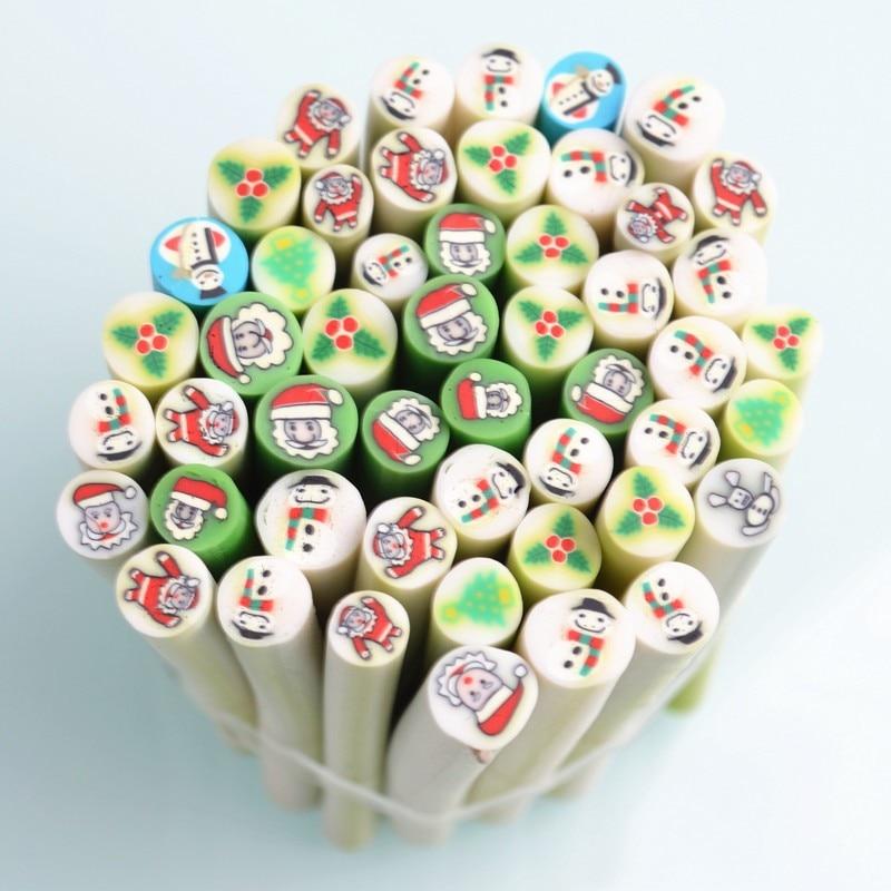 50 unids Mini Cubos de Cuidado de Uñas de Arte Fimo Fimo Clavo de la ...