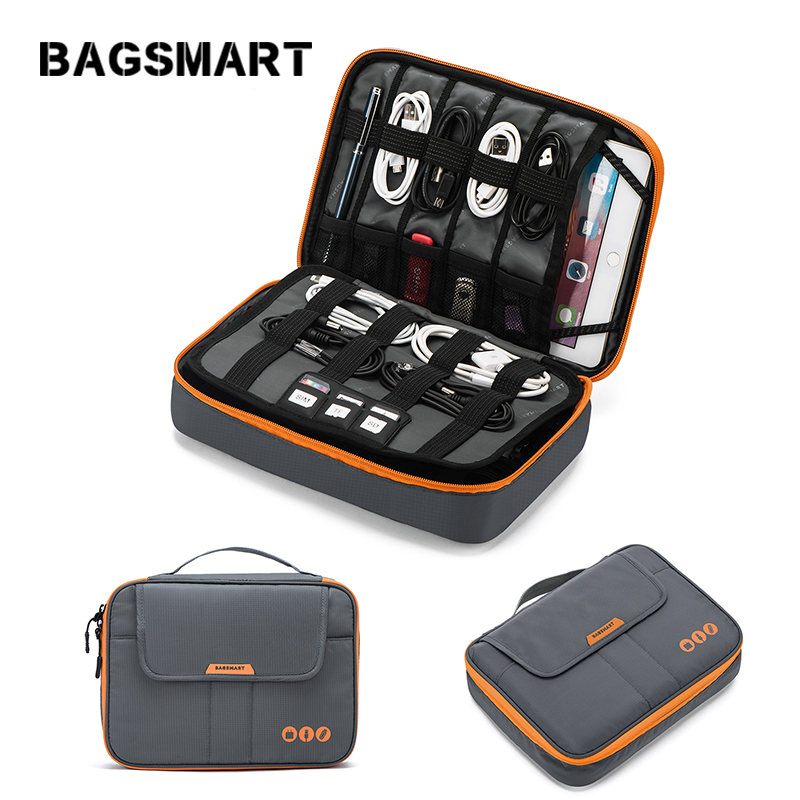 BAGSMART Business Trip Packing Organizer Pad Kindle Fit in Casual style Portable Data line charger bag electronics