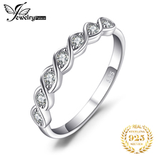 JewelryPalace Classic Round Cubic Zirconia Wedding Promise Ring 925 Sterling Silver Jewelry Simple Wedding Engagement Ring недорого