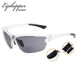 Image 4 - SG901 Eyekepper TR90 Sports Half Rimless Bifocal Sunglasses Baseball Running Fishing Driving Golf Softball Hiking Readers