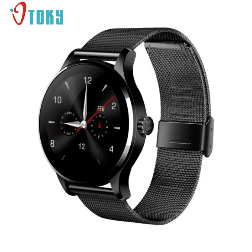 ФОТО Excellent Quality K88H Smart Watch Heart Rate Monitor Bluetooth Smartwatch MTK2502C Rate Track Steel Wristwatch For IOS Andriod