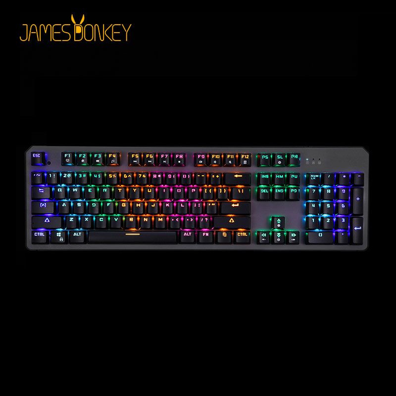 USB Wired Mekanisk Gaming Keyboard Blå Rød INDHOLD Switch 50 Million Klik med 22 LED Baggrundslys Model Anti-Ghosting for Game