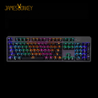 USB Wired Mechanical Gaming Keyboard Blue Red CONTENT Switch 50 Million Click with 22 LED Backlight Model Anti Ghosting for Game