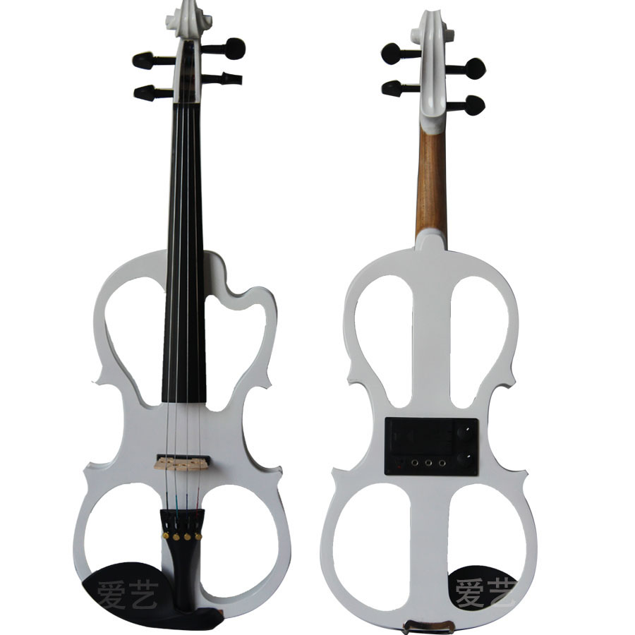White Electronic Violin   Purplish red  Electronic Violin Wood Violin+Rosin+Case+Bow+Tuner  Free Shipping handmade new solid maple wood brown acoustic violin violino 4 4 electric violin case bow included