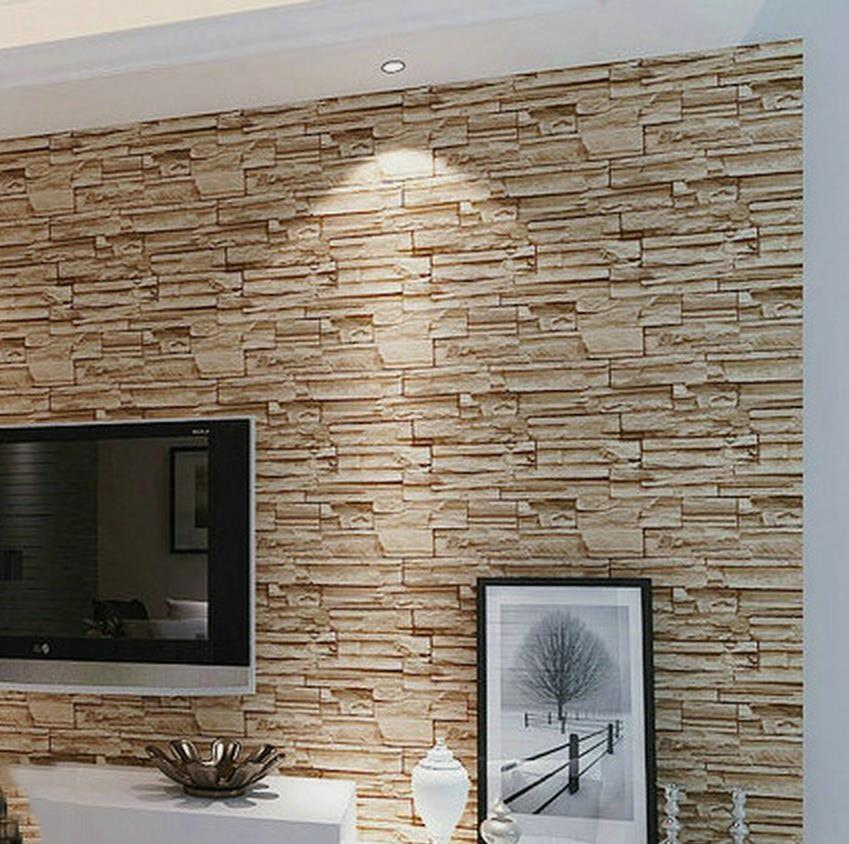 Classic Home Decor Factory direct special modern 3D brick pattern wallpaper roll wallpapers