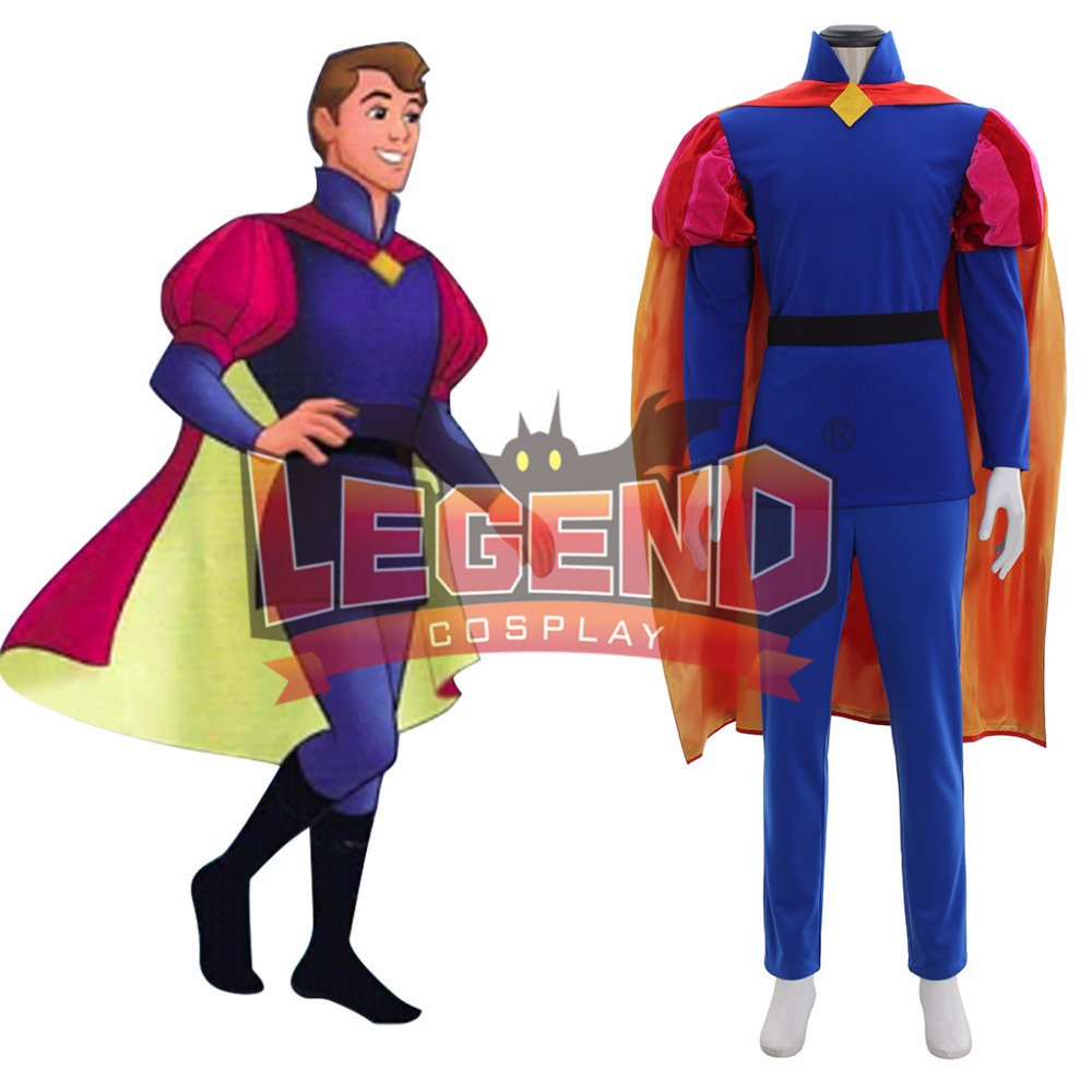 Sleeping Beauty Prince Phillip cosplay Costume outfit Halloween Costumes For Men Adult