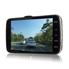 Otstrive 4.3 5 inch Car Dash Camera DVR Full HD1080P ADAS Lane Departure Warning System Motion Detect Rear View Dual Lens DVR