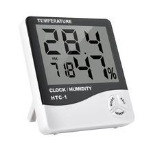 Цифровой термометр с ЖК-дисплеем, точный уличный гигрометр, настольный домашний комнатный ЖК-дисплей, черный и белый прочный измеритель температуры