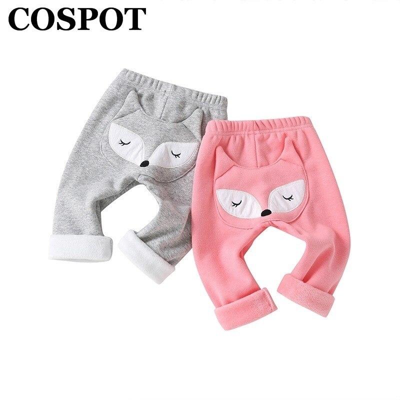 Winter Baby Plus Flanel PP Broek Peuter Meisje Hoge Taille Cartoon Knit Warm Leggings Kinderen Jongen Casual Broek for a 20