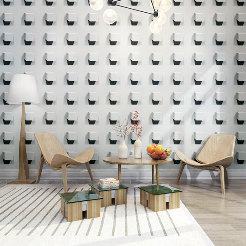 Ceiling Wallpaper Modern 3D Stereo Grey Geometric Wall Paper Rolls For Living Room Bedroom Ceiling Decor Wall Covering Wallpaper classical golden pattern soft rolls luxury embossed wallpaper 3d room for livingroom 3d wall paper covering household murals