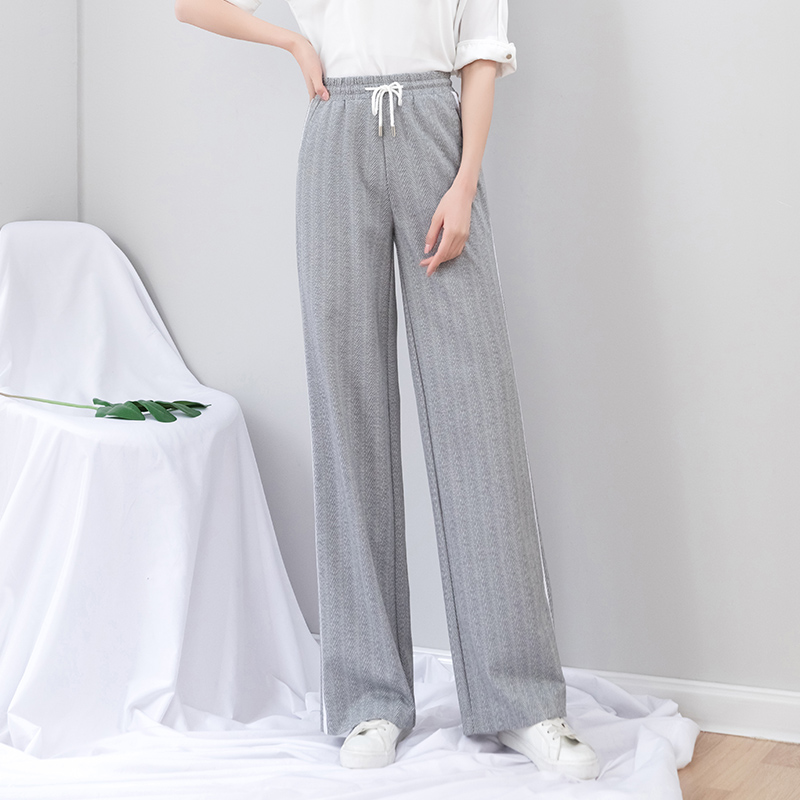 gray   wide     leg     pants   women 2019 new summer plus size 5xl loose lace up full length vintage   pants   woman harajuku trousers women