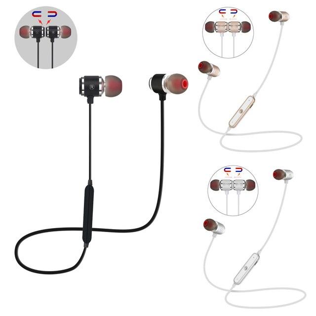 QAIXAG جديد سماعة لاسلكية تعمل بالبلوتوث سماعة الرياضة المغناطيسي سماعة رأس بخاصية البلوتوث في الأذن لجميع الهواتف المحمولة مع بلوتوث