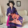 Мода Кашемировый шарф люксовый бренд Милый плюшевый медведь шарф женщин зима теплая шарфы мыс пончо Двусторонняя echarpe пашмины